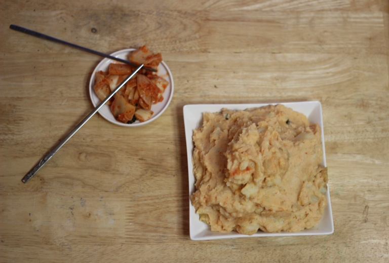 Fried Green Kimchi - Kimchi Mashed Potatoes