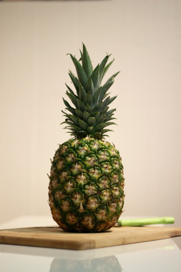 Fried Green Kimchi - Pineapple Jack O Lantern