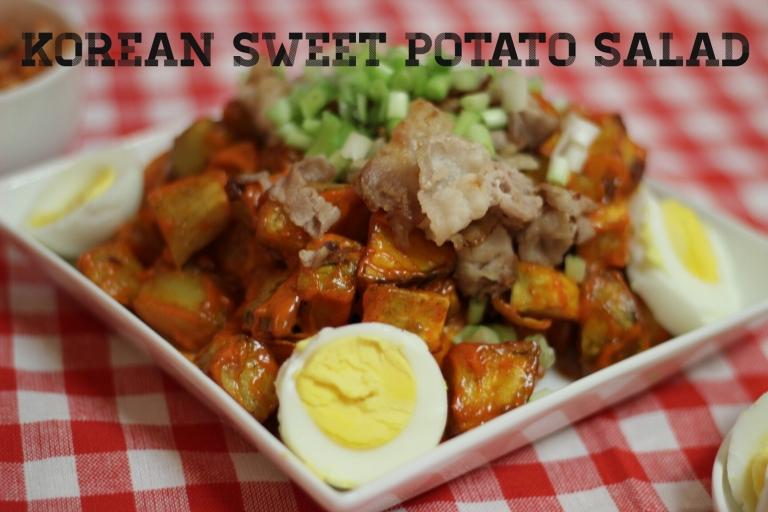 Fried Green Kimchi - Korean Sweet Potato Salad