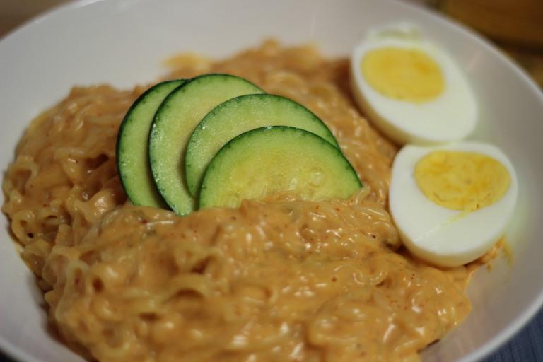 Fried Green Kimchi - Ramen Maek n Cheese