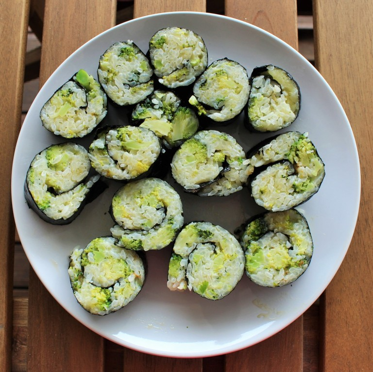 Broccoli-Rice Casserole Kimbap - Fried Green Kimchi (2)