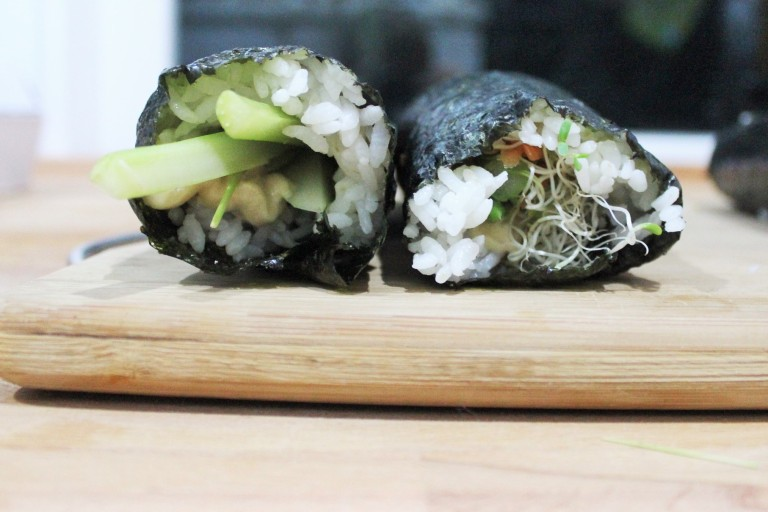 Well Being Kimbap - Fried Green Kimch (2)