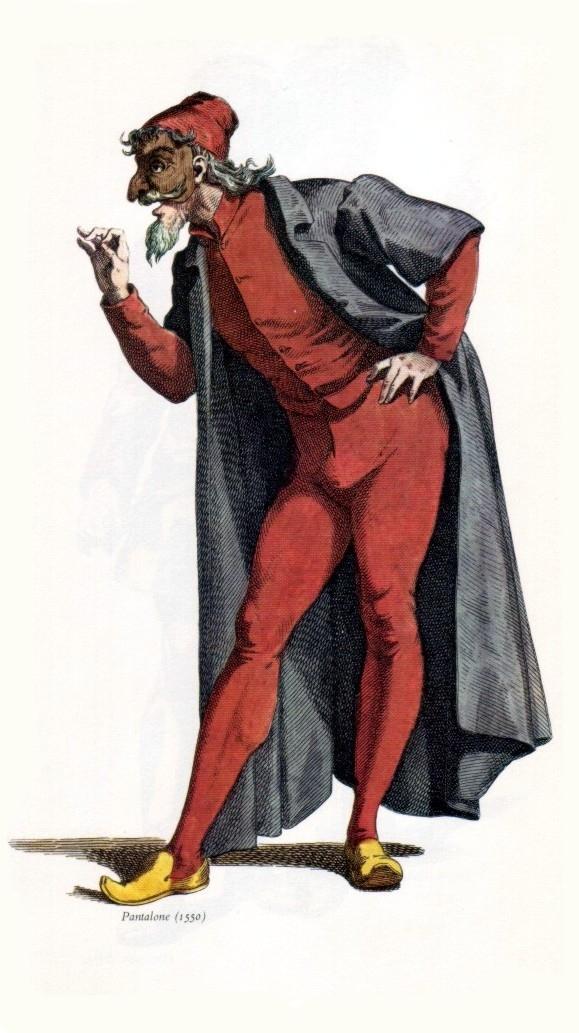Venetian Masks - Pantalone - Maurice Sand